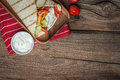 Tasty fresh wrap sandwich. Royalty Free Stock Photo