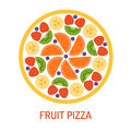 Tasty fruit pizza