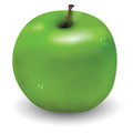 Tasty green apple with few waterdrops on it Royalty Free Stock Photo