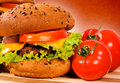 Tasty hamburger Stock Photography