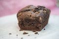 Tasty hand made chocolate chip loaf cake fresh home Stock Photo
