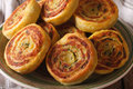 Tasty Indian potato roll close-up on a plate. horizontal Royalty Free Stock Photo