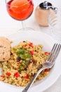 Tasty italian mushroom risotto Stock Photo