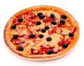 Tasty Italian pizza over white . Stock Photography
