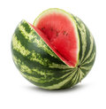 Tasty juicy watermelon isolated on the white background Royalty Free Stock Photo