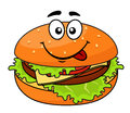 Tasty meaty cheeseburger on Royalty Free Stock Images