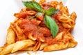 Tasty pasta italian meat sauce pasta on the table Stock Photography