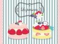 Tasty patisserie , pastry , pie , cake Royalty Free Stock Photo