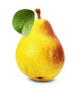 Tasty pear  on the white background Royalty Free Stock Photo