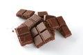 Tasty porous chocolate white background Stock Image