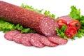 Tasty red salami Royalty Free Stock Photo