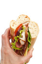 Tasty Sandwich in Hand Royalty Free Stock Photo
