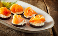 Tasty Seafood Canapes With Smo...