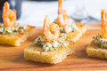 Tasty shrimp appetizer Royalty Free Stock Photo