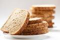 Tasty sliced raisin bread Royalty Free Stock Photo