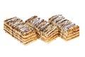 Tasty sponge cakes Royalty Free Stock Photo