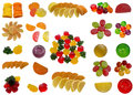 Tasty sweet fruit jelly yellow red green sugar food dessert ripe contrasts Stock Photo
