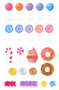 Tasty Sweets Isolated Illustrations Collection