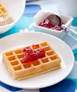 Tasty waffles Royalty Free Stock Photography