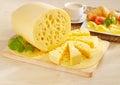 Tasty yellow cheese