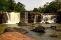 Tat ton waterfall at chaiyaphum province in thailand Stock Photos