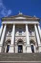 Tate britain in london the impressive facade of the art gallery Stock Photo