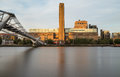 Tate Modern and Millenium Bridge in the Morning Royalty Free Stock Photo