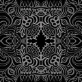 Tatoo black taboo seamless pattern two Stock Photo