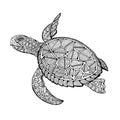 Tatoo sea turtle Royalty Free Stock Photo