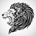 Tatouage d'hurlement de lion Photo libre de droits