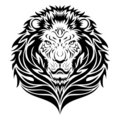 Tatouage principal de lion Photographie stock libre de droits