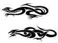 Tatouages de dragons Photo libre de droits