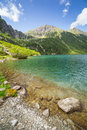 Tatra mountains and lake in poland eye of the sea Stock Photography