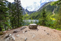 Tatra mountains and lake in poland eye of the sea Stock Image