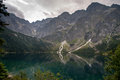 Tatra Mountains Morskie Oko View in Poland Stock Photo