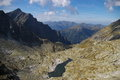 Tatra mountains trail in the Royalty Free Stock Photo