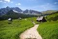 Tatra mountains trail in the in poland Stock Photos