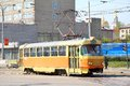 Tatra t yekaterinburg russia may yellow tram at city street Royalty Free Stock Images