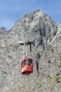 Tatranska lomnica cable car Royalty Free Stock Photo