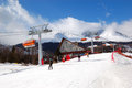 Tatranska Lomnica is ski resort in High Tatras Royalty Free Stock Photo