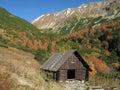 Tatry, chata v údolí Racková