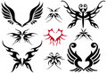 Tattoo design set Stock Photo