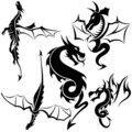 Tattoo Dragons Royalty Free Stock Photo