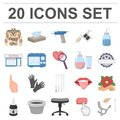 Tattoo, drawing on the body cartoon icons in set collection for design. Tattoo salon and equipment vector symbol stock Royalty Free Stock Photo