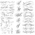 Tattoo elements handmade lettering and decorative Stock Image
