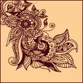Tattoo henna illustration of abstract pattern of a Royalty Free Stock Image