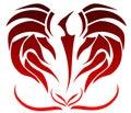 Tattoo optical illusion Royalty Free Stock Photo