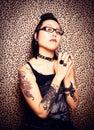 Tattoo Princess Royalty Free Stock Photography
