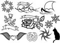 Tattoo set vector Royalty Free Stock Photo