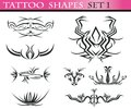 Tattoo shapes set 1 Stock Photography